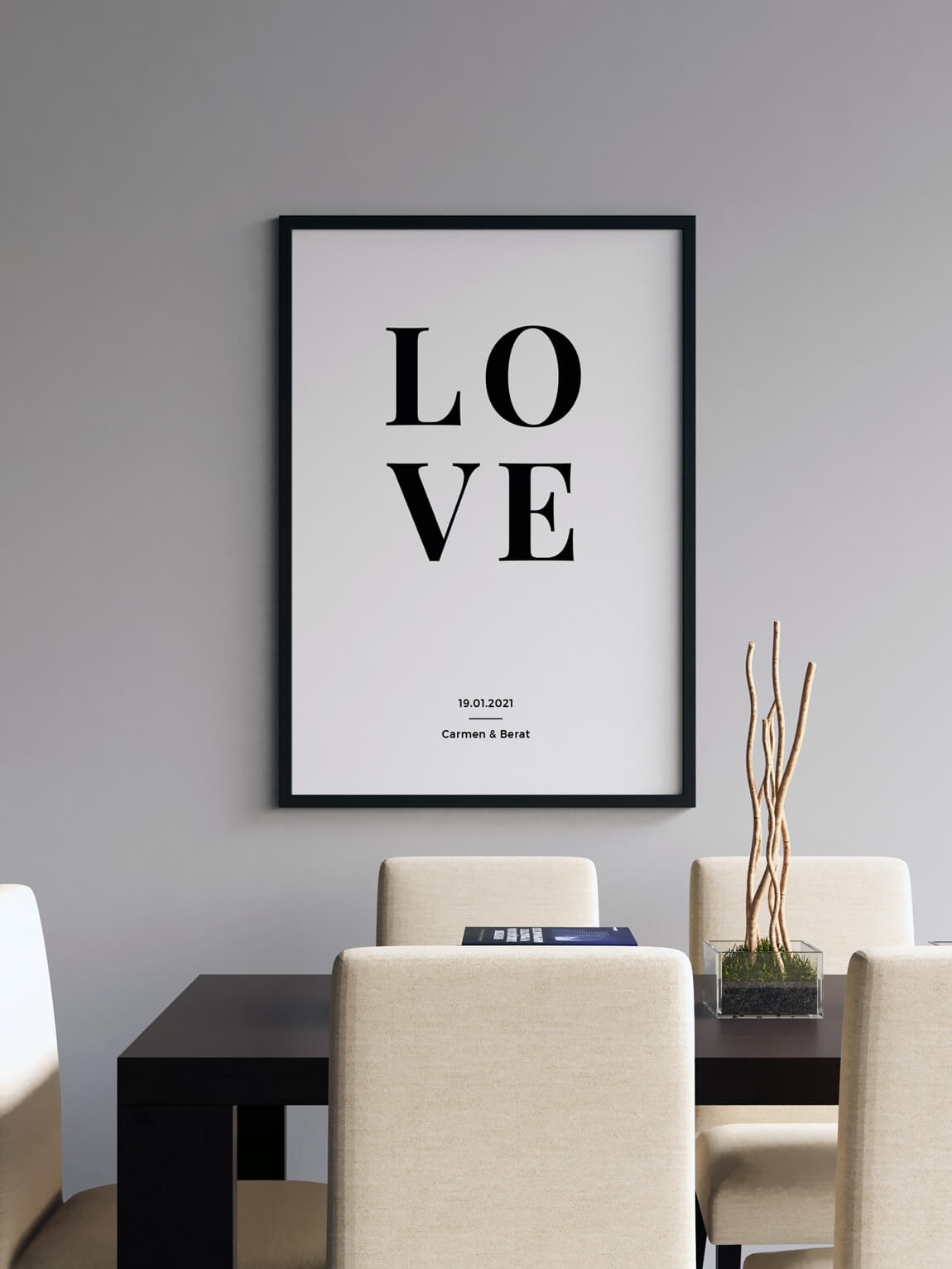 Personalisiertes Poster LOVE Paare